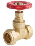 Product image for Gate compression valve,22mm comp