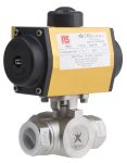 Product image for 1 in. 3 Way Ball Valve