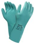 Product image for Ansell Sol-Vex, Green Work Gloves, Size 8