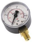 Product image for BOTTOM CONN PRESSURE GAUGE,R1/8,0-1.6BAR