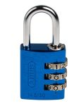 Product image for BLUE 30MM COMBINATION SAFETY PADLOCK