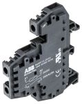 Product image for SPNO DIN rail relay w/lamp,5A 24Vdc coil