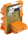 Product image for 9 way D socket DIN rail terminal