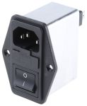 Product image for IEC INLET FILTER WITH SINGLE FUSE 2A