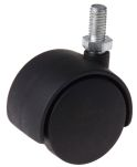 Product image for 2 wheel nylon castor,40mm dia,M8 stud