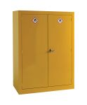 Product image for RS PRO Yellow Lockable 2 Doors Hazardous Substance Cabinet, 1535mm x 1m x 560mm