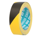 Product image for HAZARD WARNING TAPE BLK/YELL 38MM  AT8