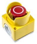 Product image for ABB Surface Mount Emergency Button - Pull to Reset, 2NC, Mushroom Head