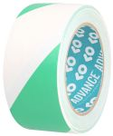 Product image for GRN/WHT PVC HAZARD WARNING TAPE AT8