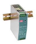Product image for 120W DIN Rail Panel Mount PSU 24Vdc 5A