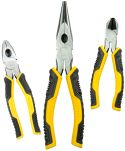 Product image for 3PC PLIERS SET 150MM COM CUTT HAF