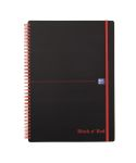 Product image for BLACK N RED NOTEBOOK A4W/BND PP ELASTIC