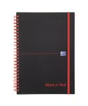 Product image for BLACK N RED NOTEBOOK A5W/BND PP ELASTIC