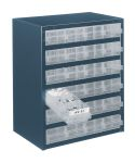 Product image for 24 DRAWER BLUE CABINET, 240 X 80 X 50 MM