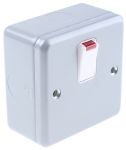 Product image for 20A CONTROL SWITCH WITH NEON METALCLAD