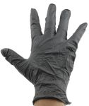 Product image for Ansell Black Nitrile Disposable Gloves size 8.5 - L Powder-Free x 100