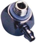 Product image for Barb elbow M5 to 4mm