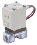 "Product image for 2 port solenoid valve, 1/8"", 24Vdc, NBR"