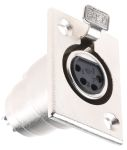 Product image for 4 way nickel finish XLR chassis socket