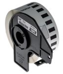 Product image for Brother Black on White Label Printer Tape, 29 mm Width, 15.24 m Length
