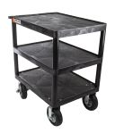Product image for Heavy Duty 3 Shelf Service Trolley