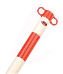 Product image for BARRIER POST,RED/WHITE