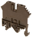 Product image for 2.5mm din rail terminal brown