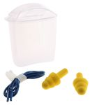 Product image for 3M E.A.R Ultrafit Corded Reusable Ear Plugs, 32dB, Yellow, 1 Pairs per Package