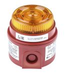 Product image for e2s IS-mB1 Amber LED Beacon, 24 V dc, Flashing, Surface Mount
