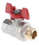 Product image for T handle ball valve 1/2in M-F