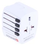 Product image for UNIVERSAL TRAVEL ADAPTOR + USB CHARGER