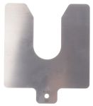 Product image for Precut s/steel shim stock,100x100x0.4mm