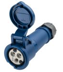 Product image for MENNEKES, AM-TOP IP44 Blue Cable Mount 3P Industrial Power Socket, Rated At 16.0A, 230.0 V