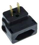 Product image for CEE7 EURO PLUG TO US 2 PIN BLACK