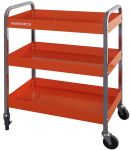 Product image for ROLL CART- 3 TRAYS- ORANGE