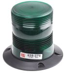 Product image for 10-100V 6W Grn Xenon beacon, 3 point fix