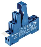Product image for DPDT DIN rail relay skt - plastic clip