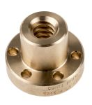 Product image for Flanged Bronze Nut for 16 X 4 Lead Screw