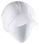 Product image for PEAKED CAP,WHITE 100/BOX