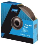 Product image for Norton P150 Very Fine Sandpaper Roll, 25m x 50mm