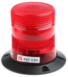 Product image for 10-100V 6W Red Xenon beacon, 3 point fix