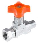 Product image for 1/4in BSPT inline isolator needle valve