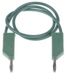 Product image for 0.5m green moulded test lead,4mm plug
