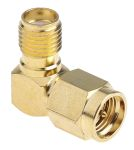 Product image for RF coaxial adapter R/A SMA plug to jack