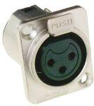 Product image for NICKEL 3 POLE D FLANGE SOCKET