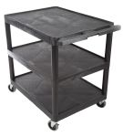 Product image for Lge 3 shelf trolley,33x32x24in Max 120kg
