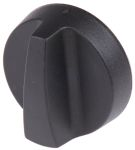 Product image for Thermoplastic spinner knob,40mm dia,D6,F