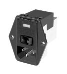 Product image for POWER ENTRY MODULE 6A VERSAT.FLANGE