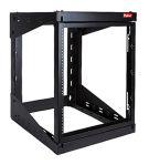 Product image for VersaRack 12U Server Rack With Steel 4-Post Frame in Black