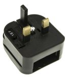 Product image for BLACK EURO CONVERTER MAINS PLUG 3A 600W